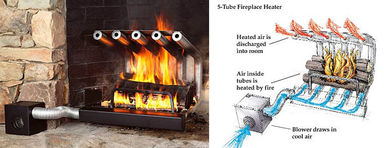 fireplace blower large